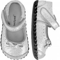 Pediped Originals for Girls - Ines Silver Mary Jane