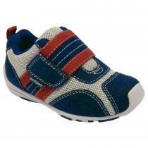 Pediped Flex for Boys - Adrian Navy/Grey/Red Athletic Shoe