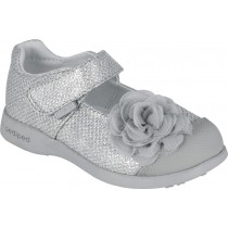 Pediped Flex for Girls - Evangeline Silver Mary Jane Shoe