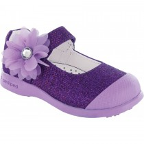 Pediped Flex for Girls - Evie Purple Mary Jane Shoe