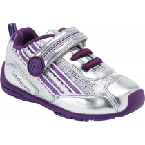 Pediped Flex for Girls - Leo Silver Glitter Athletic Shoe
