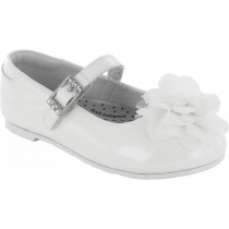 Pediped Flex for Girls - Stella White Ballet Flat