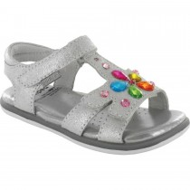 Pediped Flex for Girls - Willow Silver Sandal