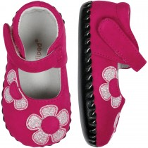 Pediped Originals for Girls - Abigail Fuchsia Glitter Mary Jane