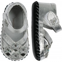 Pediped Originals for Girls - Emily Silver Sandal