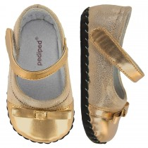 Pediped Originals for Girls - Penny Gold Ballet Flat