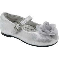 Pediped Flex for Girls - Stella Silver Ballet Flat