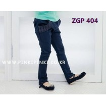 Girls Ribbon Pants ZGP 404 Navy
