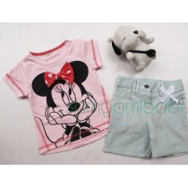 Minnie Pink Tee/Bottom Set ZGS 022