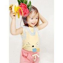 Yellow Mousey Ruffle Top n Bottom Set ZGS 029