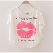 Pinky Lips Design Top ZGT 320