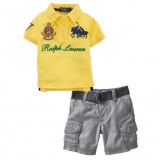 Yellow POLO Top n Bottom Set ZMS 003