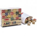 Wooden ABC 123 Blocks Melissa n Dough