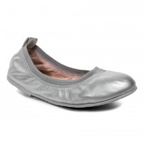 ~NEW~ Pediped Flex for Girls - Angie Silver Ballet Flat