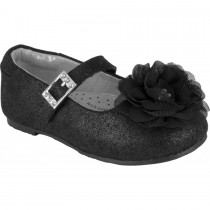 Pediped Flex for Girls - Stella Black Ballet Flat