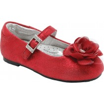 Pediped Flex for Girls - Stella Red Ballet Flat