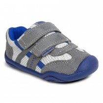 ~NEW~ Pediped Grip 'n' Go for Boys - Gehrig Mid Grey Blue Sneaker