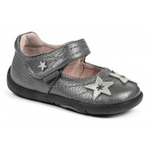~NEW~ Pediped Grip 'n' Go for Girls - Starlite Pewter Mary Jane