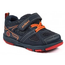 ~NEW~ Pediped Grip 'n' Go for Boys - Mars Navy Orange Athletic Shoe