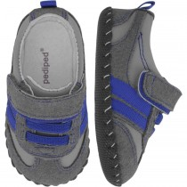 Pediped Originals for Boys - Frederick Charcoal Blue Sneaker