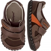 Pediped Originals for Boys - Charleston Choc Brown Sneaker
