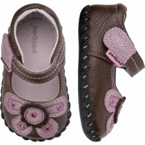 ~NEW~ Pediped Originals for Girls  - Selena Chocolate Mary Jane