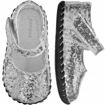 ~NEW~ Pediped Originals for Girls  - Delaney Silver Mary Jane