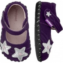 ~NEW~ Pediped Originals for Girls  - Starlite Eggplant Mary Jane