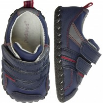 ~NEW~ Pediped Originals for Boys  - Frank Navy Red Sneaker