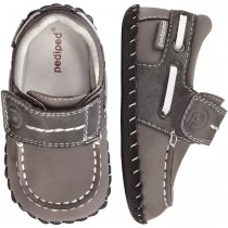 ~NEW~ Pediped Originals for Boys  - Norm Grey Boat Shoe
