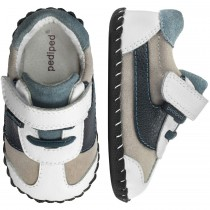 ~NEW~ Pediped Originals for Boys  - Cliff White Navy Shoe