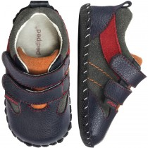 ~NEW~ Pediped Originals for Boys  - Grayson Navy Orange Red Shoe
