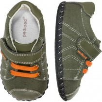 ~NEW~ Pediped Originals for Boys  - Jake Olive Orange Sneaker