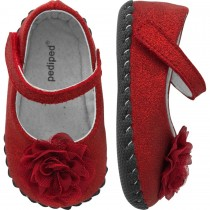 Pediped Originals for Girls - Stella Red Ballet Flat