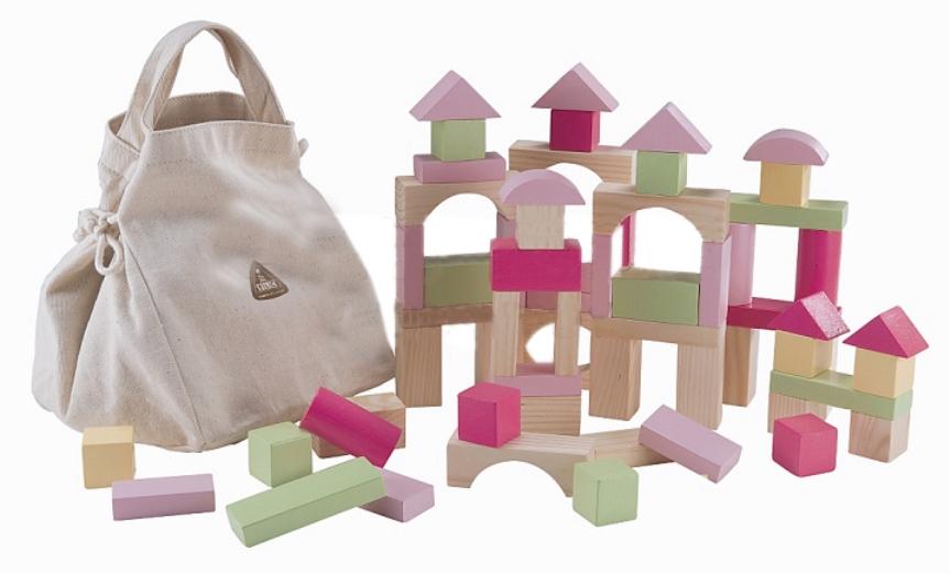 ELC Wooden Bricks **Pink**